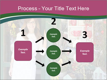 Woman Florist PowerPoint Template - Slide 92