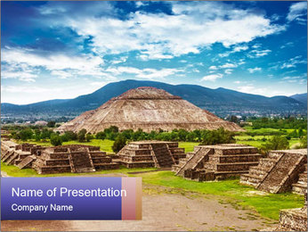 Mayan Pyramid PowerPoint Templates - Slide 1