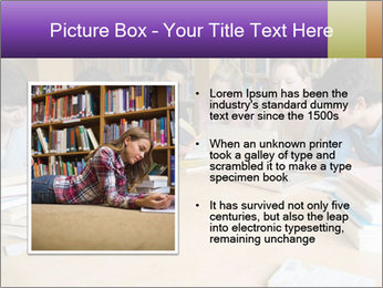 Students In Library PowerPoint Template - Slide 13