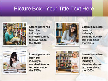Students In Library PowerPoint Templates - Slide 14