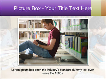 Students In Library PowerPoint Template - Slide 15