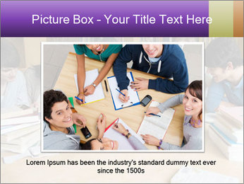 Students In Library PowerPoint Template - Slide 16