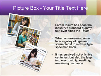 Students In Library PowerPoint Template - Slide 17