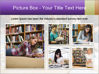 Students In Library PowerPoint Template - Slide 19