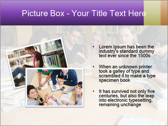 Students In Library PowerPoint Template - Slide 20