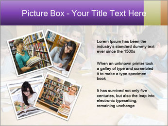 Students In Library PowerPoint Template - Slide 23