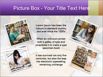Students In Library PowerPoint Template - Slide 24
