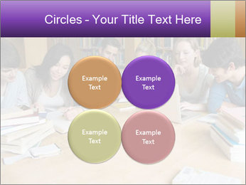 Students In Library PowerPoint Template - Slide 38