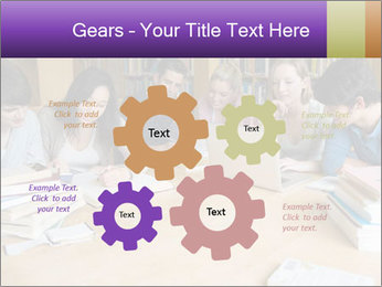 Students In Library PowerPoint Template - Slide 47