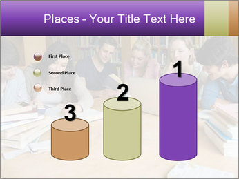 Students In Library PowerPoint Template - Slide 65