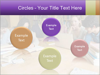 Students In Library PowerPoint Template - Slide 77