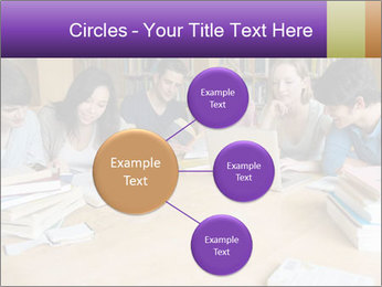 Students In Library PowerPoint Template - Slide 79