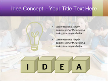 Students In Library PowerPoint Template - Slide 80