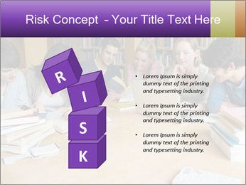 Students In Library PowerPoint Template - Slide 81