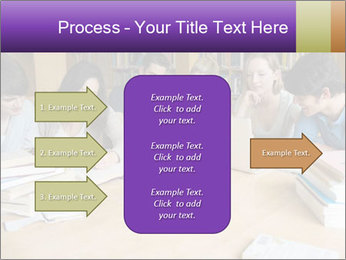 Students In Library PowerPoint Template - Slide 85