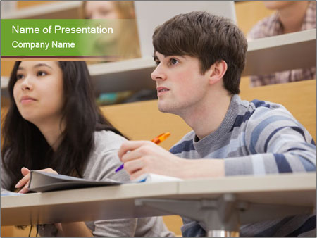 First Year Students PowerPoint Template