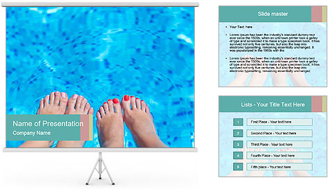 Feet and swimming pool powerpoint template backgrounds - Free swimming pool maintenance software ...