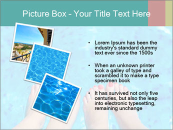 Feet And Swimming Pool PowerPoint Template - Slide 17