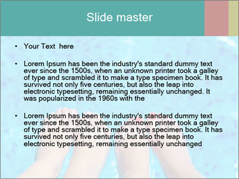 Feet And Swimming Pool PowerPoint Template - Slide 2