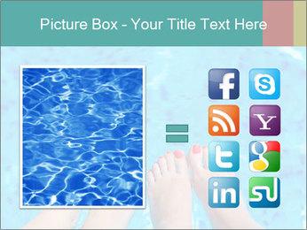 Feet And Swimming Pool PowerPoint Template - Slide 21