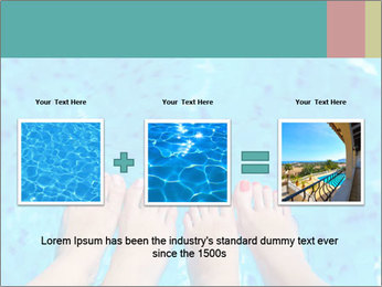 Feet And Swimming Pool PowerPoint Template - Slide 22