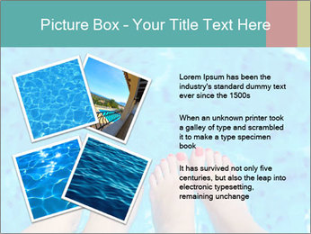 Feet And Swimming Pool PowerPoint Template - Slide 23