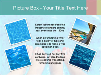 Feet And Swimming Pool PowerPoint Template - Slide 24