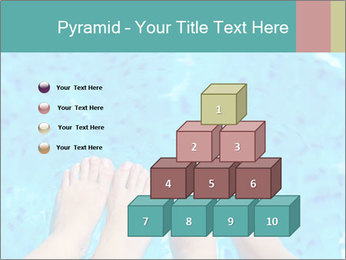 Feet And Swimming Pool PowerPoint Template - Slide 31