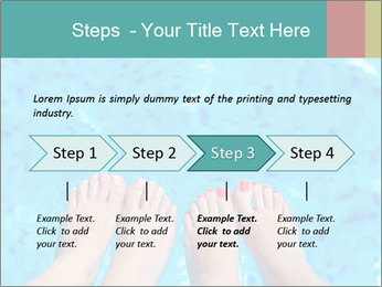 Feet And Swimming Pool PowerPoint Template - Slide 4