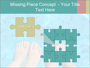 Feet And Swimming Pool PowerPoint Template - Slide 45