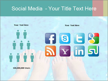 Feet And Swimming Pool PowerPoint Template - Slide 5