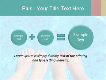 Feet And Swimming Pool PowerPoint Template - Slide 75