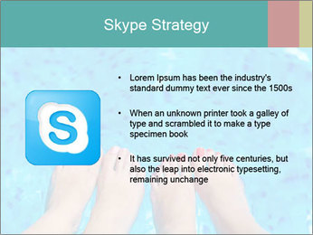 Feet And Swimming Pool PowerPoint Template - Slide 8