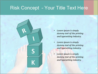 Feet And Swimming Pool PowerPoint Template - Slide 81
