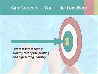 Feet And Swimming Pool PowerPoint Template - Slide 83