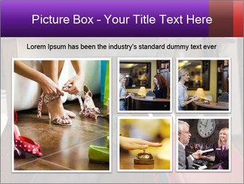 Woman Carrying Red Luggary PowerPoint Template - Slide 19