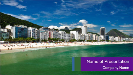 Coast In Rio PowerPoint Template