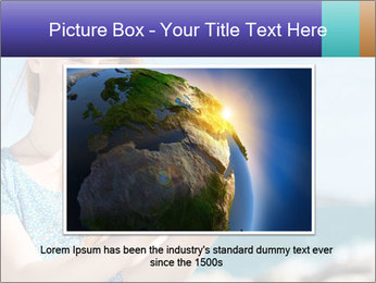 Woman Holding Globus PowerPoint Template - Slide 15