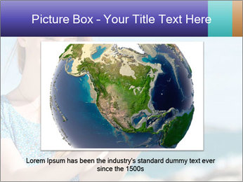Woman Holding Globus PowerPoint Template - Slide 16