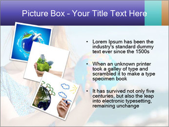 Woman Holding Globus PowerPoint Template - Slide 17