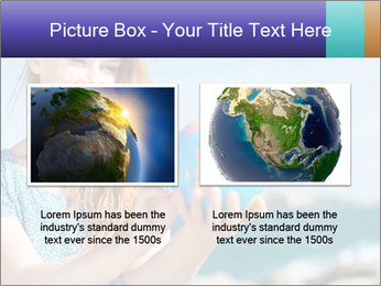 Woman Holding Globus PowerPoint Template - Slide 18