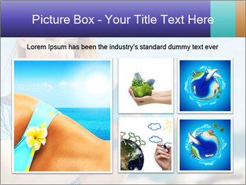 Woman Holding Globus PowerPoint Template - Slide 19