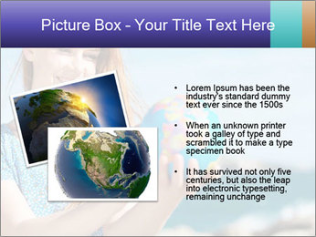 Woman Holding Globus PowerPoint Template - Slide 20