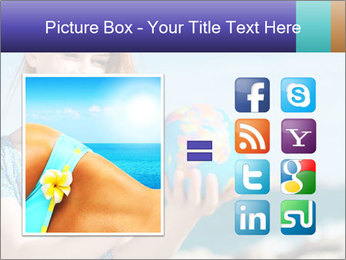Woman Holding Globus PowerPoint Template - Slide 21