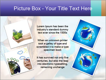 Woman Holding Globus PowerPoint Template - Slide 24