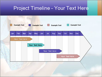 Woman Holding Globus PowerPoint Template - Slide 25