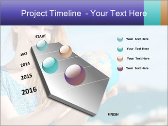 Woman Holding Globus PowerPoint Template - Slide 26