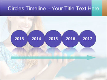Woman Holding Globus PowerPoint Template - Slide 29
