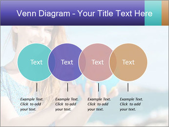 Woman Holding Globus PowerPoint Template - Slide 32