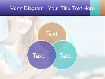 Woman Holding Globus PowerPoint Template - Slide 33